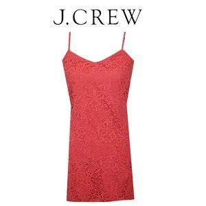 J Crew | Pink Crochet Dress | Size 4